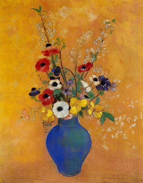 flower paintings in vases Fresh Vase of Flowers Odilon Redon WikiPaintings