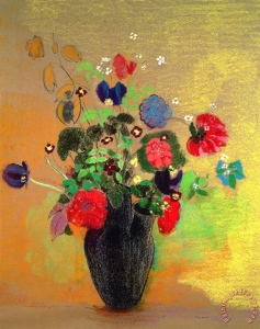 flower paintings in vases Elegant Odilon Redon Vase Flowers painting Vase Flowers